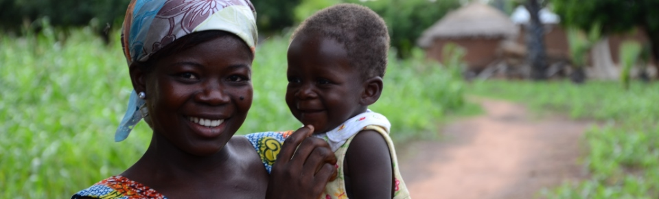 A mother and her child in northern Ghana are protected from malaria by AIRS. Credit: Erin Schiavone