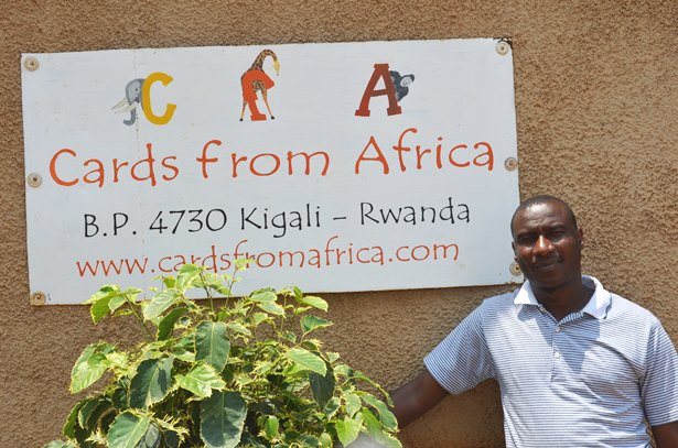 Cards from Africa manager, Jean De Dieu Bukuru, said employees learn skills to start their own businesses.