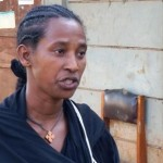 Embet Weldesenbet, a widowed mother who participated for the first time as a porter in the 2014 IRS campaign, talks about her job. She said she did not find it difficult and that the money she earned meant a lot to her and her son.