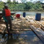 Preparing to move insecticide to communities on water requires months of planning.