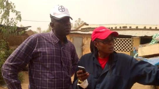 AIRS Senegal Operations Manager Dr. Ndombour Cisse works with NMCP in Koumpentoum District on Spray Operator Supervision. Photo: AIRS Senegal