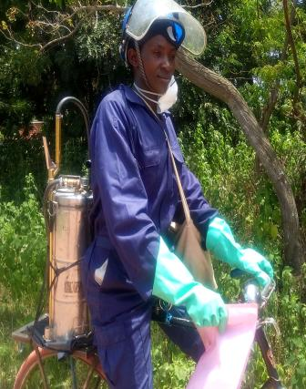 Joyce Mwipangi, Spray Operator at Inala Site in Kwimba District, Mwanza, Tanzania, said the quasi community-based approach worked well for the 2016 campaign.